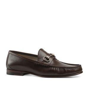 Gucci Brown Horsebit 1953 Roos Bit Slip-on Loafers